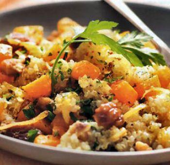 Quinoa aux carottes et aux dattes