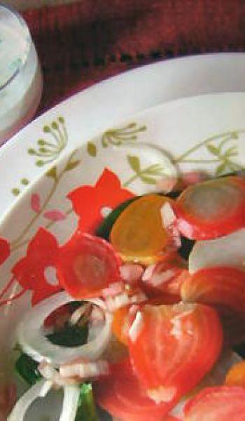 Salade de légumes anciens au cabécou