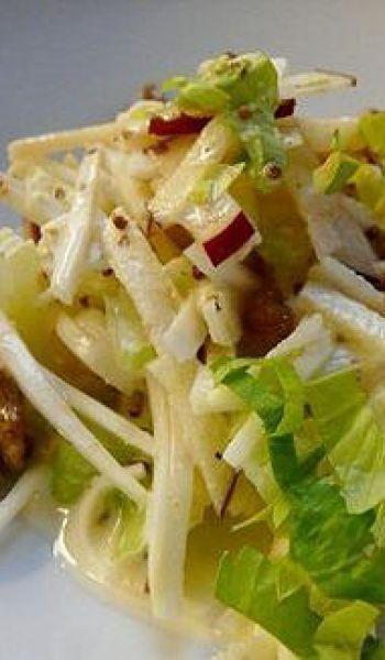 Céleris et pommes en salade
