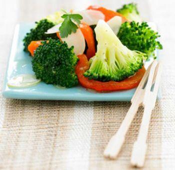Légumes croquants en salade