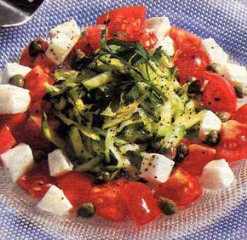 Salade tomates cerises mozzarella