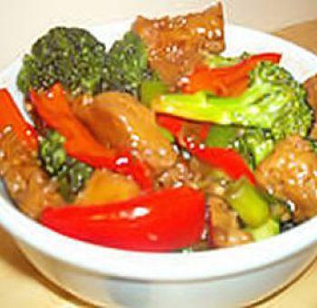 Seitan sauté aux légumes sauce Hoisin