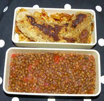 Seitan au curry et aux lentilles