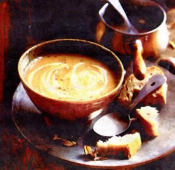 Soupe de châtaignes et céleri-rave