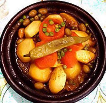 Tajine de pommes de terre et patates douces