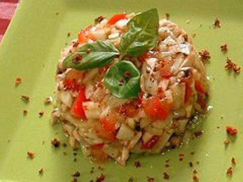 Tartare de tomate et courgettes