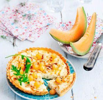 Tarte aux fromages et melon de pays