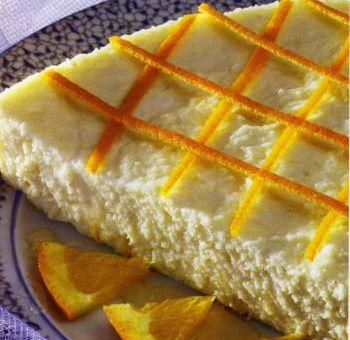 Tarte au fromage blanc et à l'orange