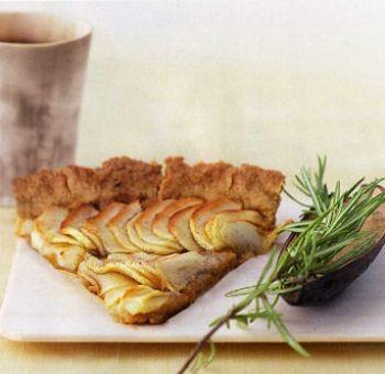 Tarte aux pommes, agave et romarin