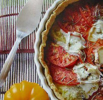 Tarte de tomates ananas au chèvre