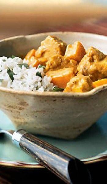 Curry de tempeh à la noix de coco