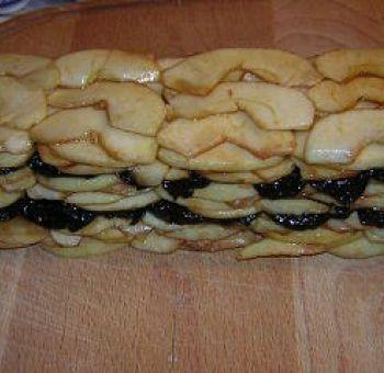 Terrine de pommes à la pâte de pruneaux