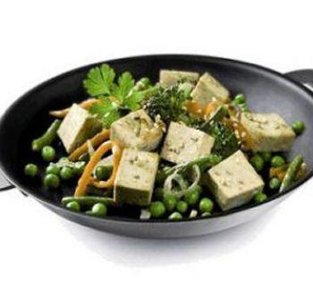 Tofu fumé aux petits légumes