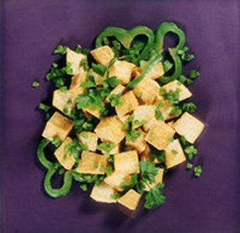 Tofu aux poivrons verts