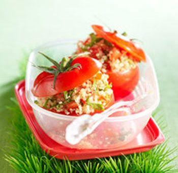 Farce de quinoa pour tomates crues