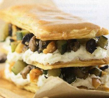Mille-feuille courgettes-champignons