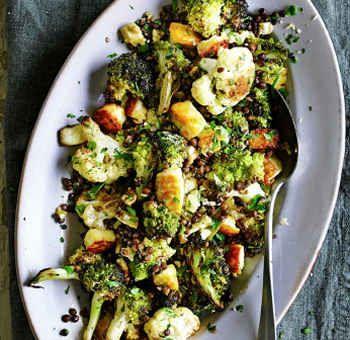 Brassica rôtis aux lentilles