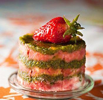 Gourmandises fraises pistaches