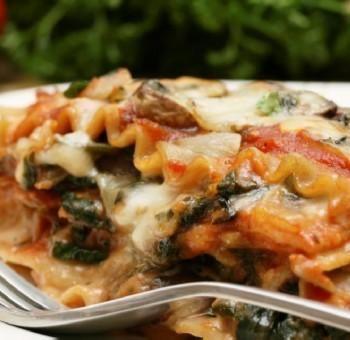 Lasagnes complètes aux épinards