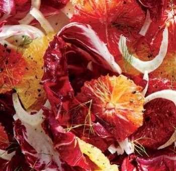 Salade oranges trévise