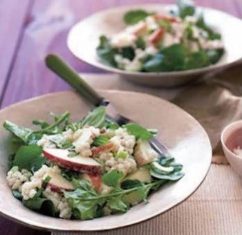 Salade d'orge aux pommes