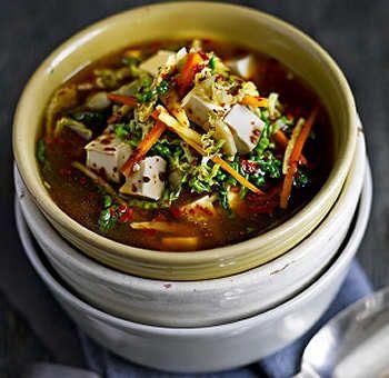 Soupe miso, tofu et chou