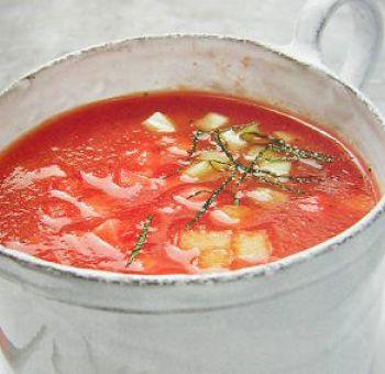 Soupe de pastèque et de melon