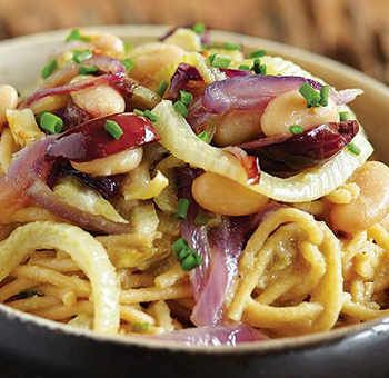 Spaghettis de kamut au fenouil