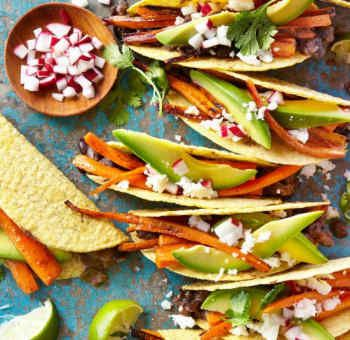 Tacos haricots noirs et carottes