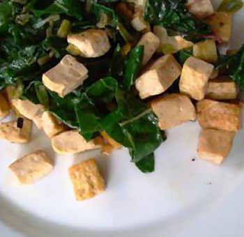 Tofu aux blettes