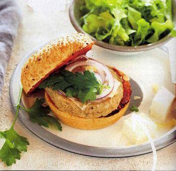 Burgers végétaux aux champignons