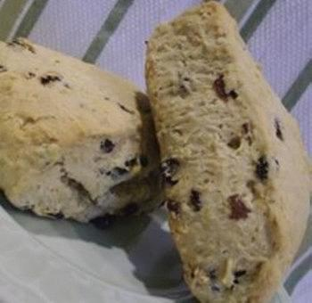 Scones avoine groseilles